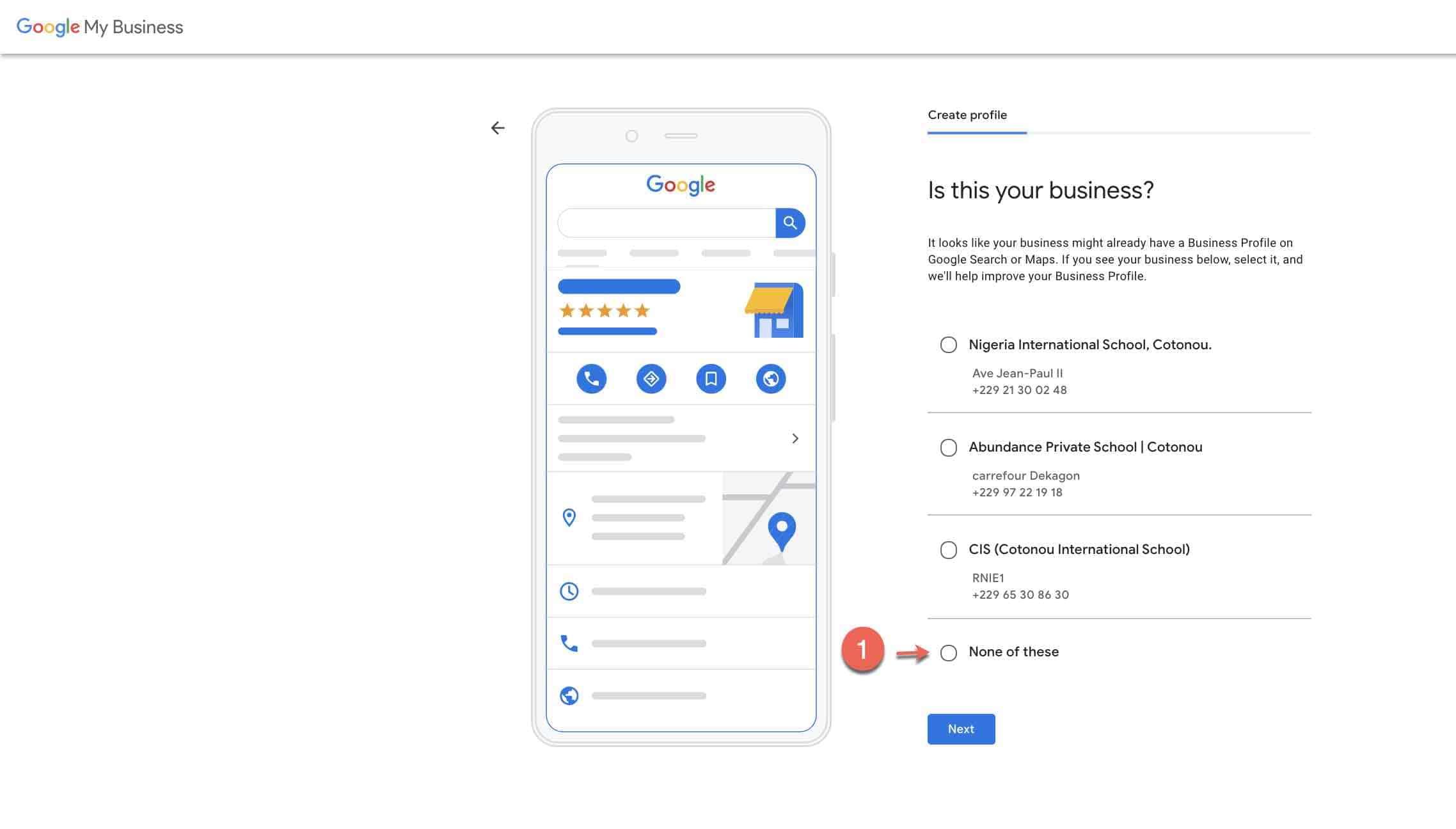 Set up google my business account -3 verify business name