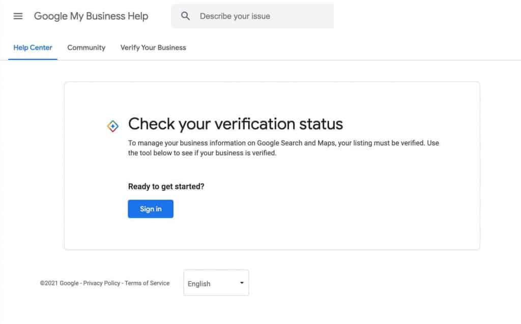 Check If Google My Business is Verified 1