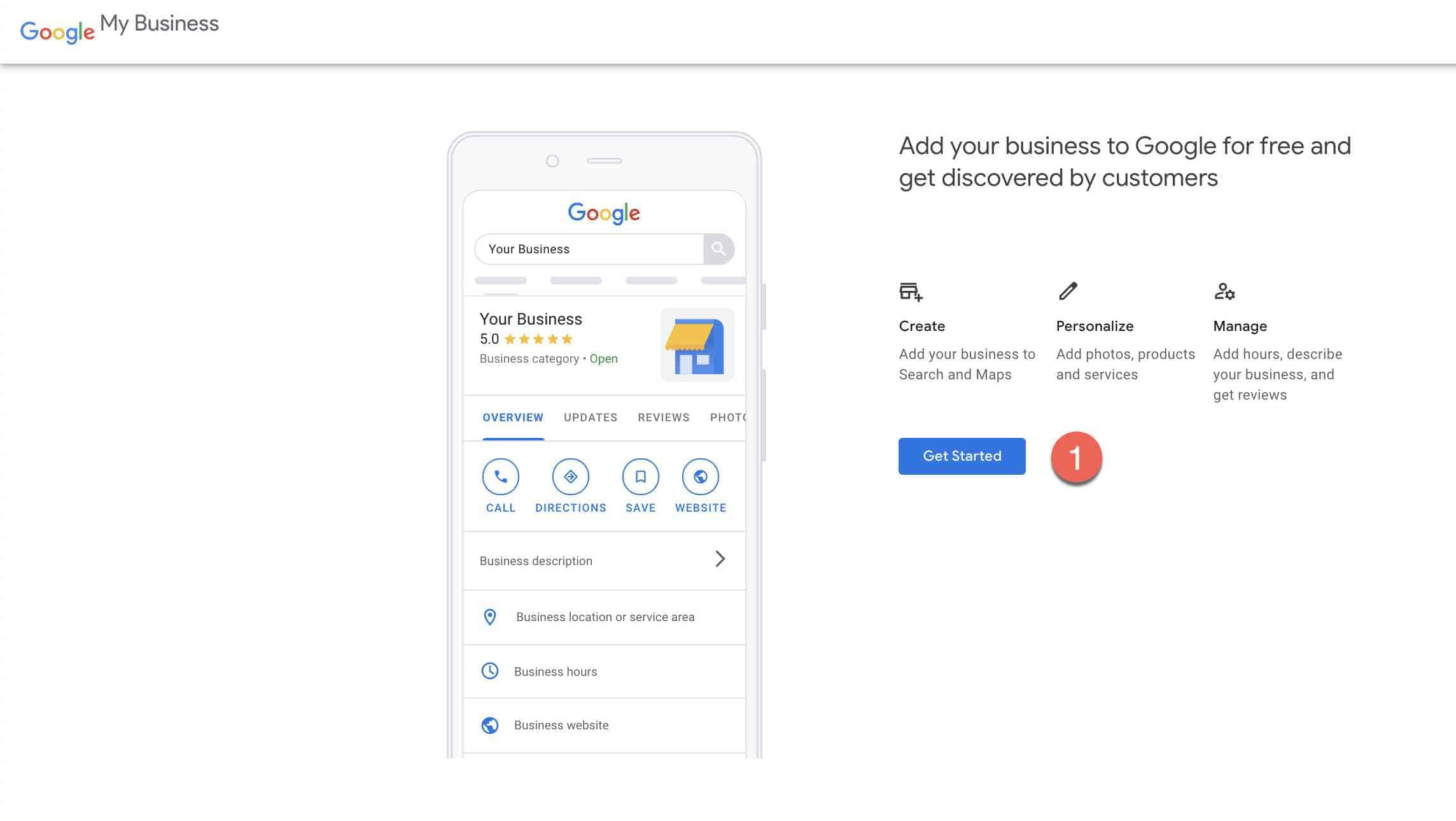 Set up google my business account -1