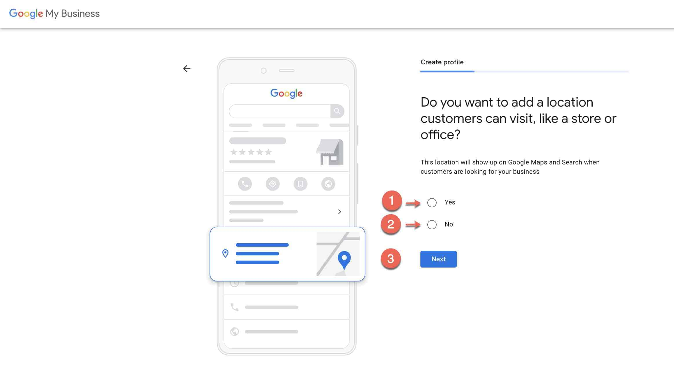 Set up google my business account - 3